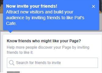 הזמנת חברים בפייסבוק